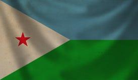 Markierungsfahne von Djibouti stock abbildung