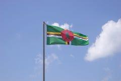 Markierungsfahne von Dominica lizenzfreie stockbilder
