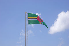 Markierungsfahne von Dominica stockfotografie