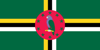 Markierungsfahne von Dominica lizenzfreie abbildung