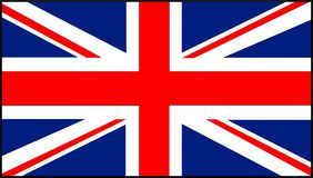 Markierungsfahne von England lizenzfreie abbildung