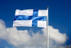 Markierungsfahne von Finnland Lizenzfreie Stockbilder