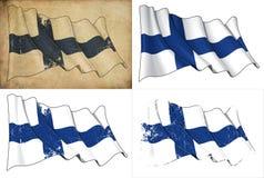 Markierungsfahne von Finnland lizenzfreie abbildung