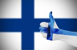 Markierungsfahne von Finnland Lizenzfreies Stockbild