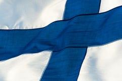 Markierungsfahne von Finnland Stockfoto