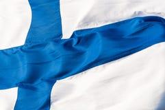 Markierungsfahne von Finnland stockfotos