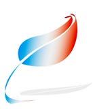 Markierungsfahne von Frankreich als Blatt Lizenzfreie Stockfotografie