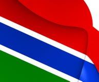 Markierungsfahne von Gambia Stockfoto