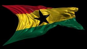 Markierungsfahne von Ghana stock video