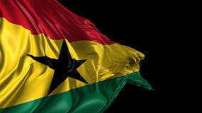 Markierungsfahne von Ghana stock video footage