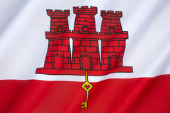 Markierungsfahne von Gibraltar Lizenzfreie Stockfotografie