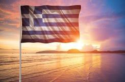 Markierungsfahne von Griechenland Stockfoto
