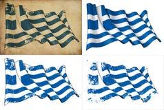 Markierungsfahne von Griechenland stock abbildung