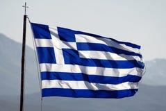 Markierungsfahne von Griechenland Stockfotografie