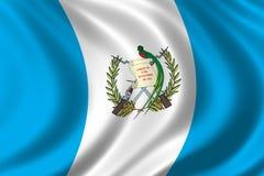 Markierungsfahne von Guatemala lizenzfreie abbildung