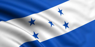 Markierungsfahne von Honduras Lizenzfreie Stockfotos