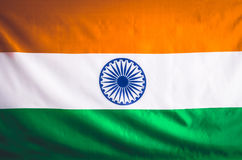 Markierungsfahne von Indien 15. August Unabhängigkeitstag der Republik von I Lizenzfreies Stockfoto