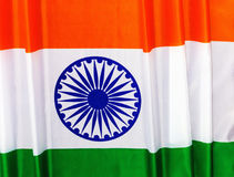 Markierungsfahne von Indien 15. August Unabhängigkeitstag der Republik von I Lizenzfreie Stockfotografie