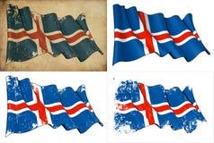 Markierungsfahne von Island stock abbildung