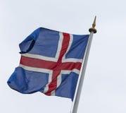 Markierungsfahne von Island Lizenzfreies Stockfoto