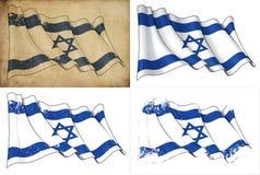 Markierungsfahne von Israel lizenzfreie abbildung
