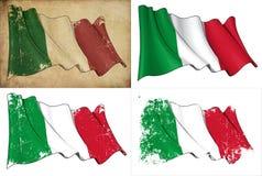 Markierungsfahne von Italien lizenzfreie abbildung
