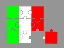 Markierungsfahne von Italien Lizenzfreie Stockfotos