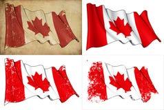 Markierungsfahne von Kanada stock abbildung