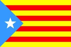Markierungsfahne von Katalonien Lizenzfreies Stockbild