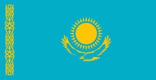 Markierungsfahne von Kazakhstan stockfoto