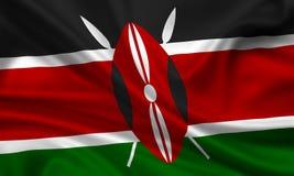 Markierungsfahne von kenia lizenzfreie abbildung