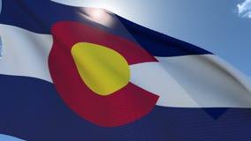 Markierungsfahne von Kolorado wellenartig bewegend in den Wind vektor abbildung