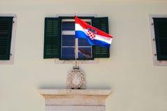 Markierungsfahne von Kroatien Lizenzfreie Stockbilder
