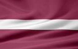Markierungsfahne von Lettland lizenzfreie abbildung