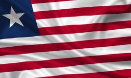 Markierungsfahne von Liberia Stockfoto