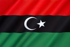 Markierungsfahne von Libyen Lizenzfreies Stockfoto