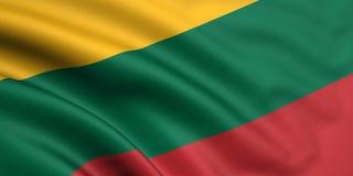 Markierungsfahne von Litauen Lizenzfreie Stockbilder