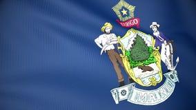 Markierungsfahne von Maine stock abbildung