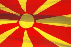 Markierungsfahne von Makedonien stock abbildung