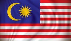 Markierungsfahne von Malaysia Lizenzfreie Stockfotografie