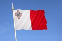 Markierungsfahne von Malta Lizenzfreies Stockbild