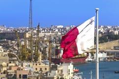 Markierungsfahne von Malta Stockfoto