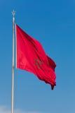 Markierungsfahne von Marokko Lizenzfreie Stockfotografie