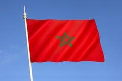 Markierungsfahne von Marokko Stockfotografie