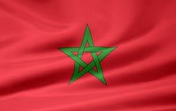 Markierungsfahne von Marokko stock abbildung
