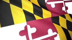 Markierungsfahne von Maryland stock abbildung