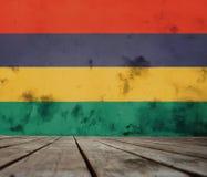 Markierungsfahne von Mauritius stockfoto