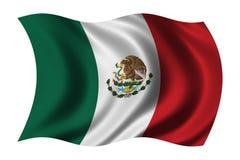 Markierungsfahne von Mexiko Lizenzfreie Stockfotografie
