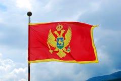 Markierungsfahne von Montenegro Lizenzfreie Stockbilder