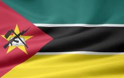 Markierungsfahne von Mosambik Lizenzfreie Stockfotografie